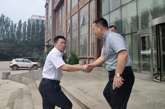 朝阳市龙城区杨松涛区长莅临朗朗科技调研考察农村直播电商基地项目